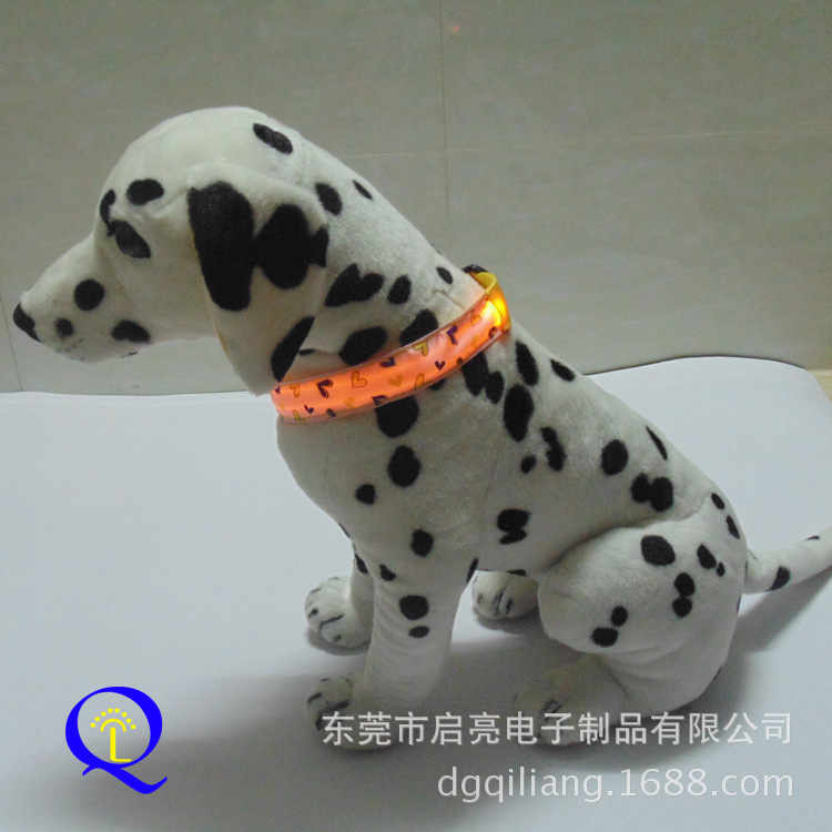 Export LED Shining Pet Dog Collar Gradient LED Night Light Neck Ring Fluorescent Decorative Pattern Dog Neck Ring