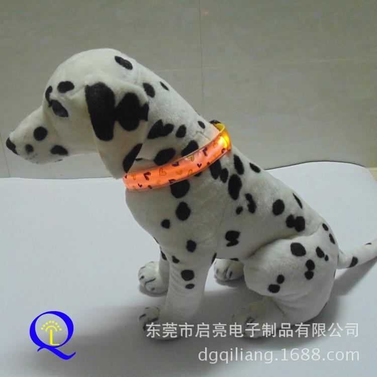 Export LED Shining Pet Dog Collar Gradient LED Night Light Neck Ring Fluorescent Decorative Pattern Dog Neck Ring