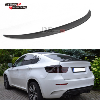E71 Spoiler Carbon Fiber Wing for BMW X6 Series E71 Rear Trunk Spoilers 2009 - 2014 Trunk Boot Wings image