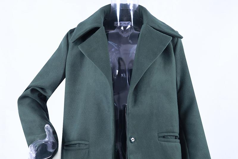 1PC Spring Autumn Women's Wool Coat New Fashion Long Woolen Coat Single Breasted Slim Type Female Autumn Winter Wool Coats 20