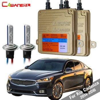 Cawanerl 55W H7 Auto HID Xenon Kit AC Canbus Bulb Ballast 3000K-8000K For Kia Cadenza 2014-2016 Car Light Headlight Low Beam