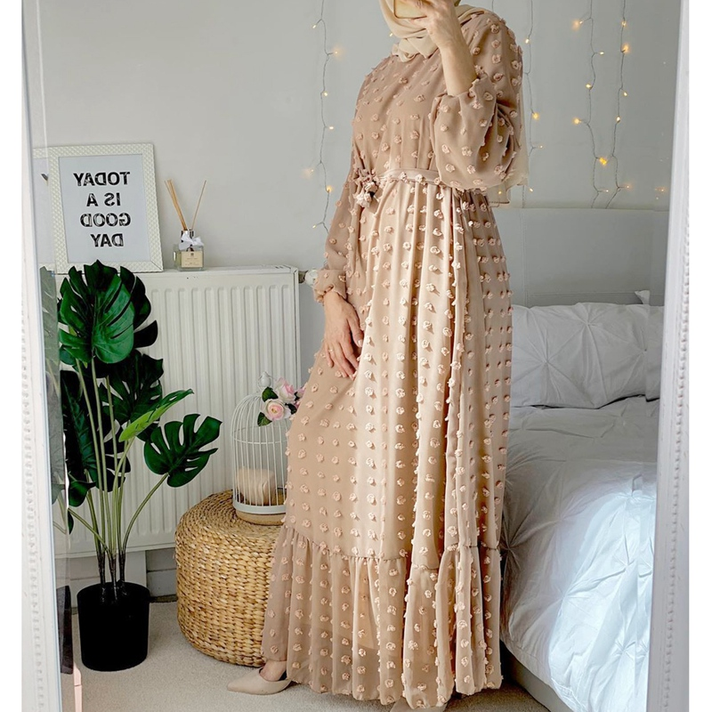Abaya Dubai Turkey Hijab Muslim Fashion Dress India Islam Clothing Dresses for Women Dress 5