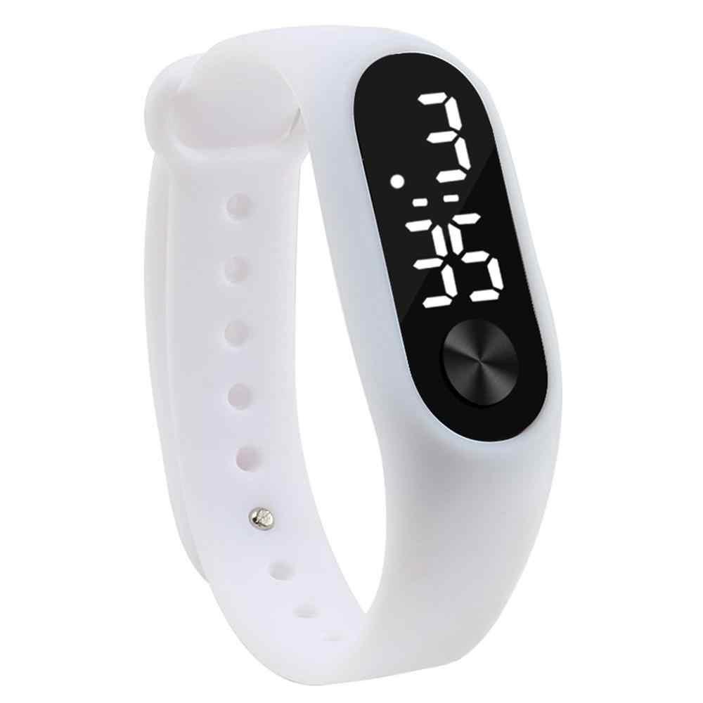 גברים נשים מזדמנים ספורט צמיד שעונים לבן LED אלקטרוני דיגיטלי צבעים בוהקים סיליקון שעון יד לילדים ילדים