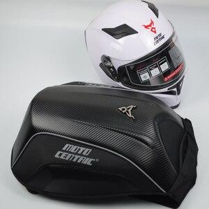 MOTOCENTRIC Black Men's Motorcycle Backpack Motorcycle Helmet Bag Waterproof Touring Luggage Box Bags Moto Hard Shell Tank Bag