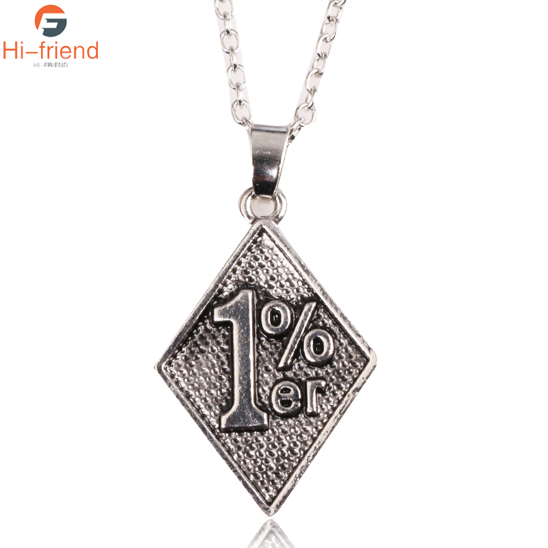 Fashion Retro Engraving 1% er Rhombus Tag Necklace Mathematical Genius Necklace Exotic Personality For Women Men Best Gift|Pendant Necklaces| - AliExpress