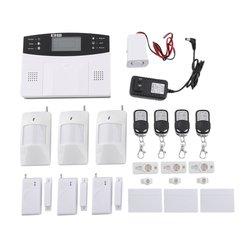 Bezprzewodowy domowy system alarmowy gsm czujnik detektora zadzwoń do ekranu LCD|Zestawy systemów alarmowych|   -