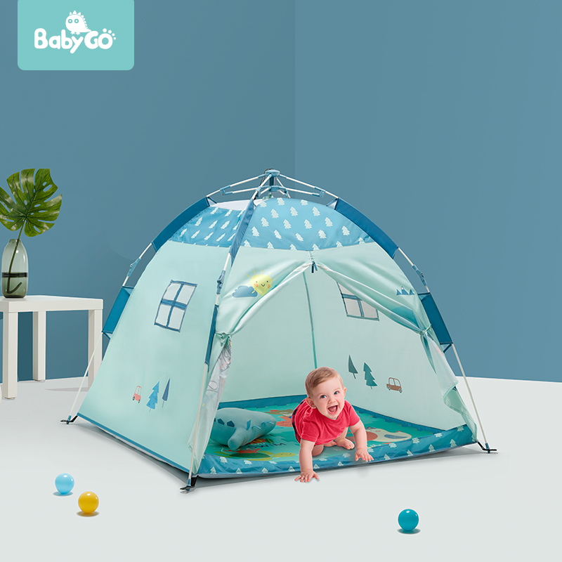 BabyGo Automatic Install Folding Children Tent Indoor Play House Outdoor Camping Sunshade Beach Portable Mosquito Net Baby Tent