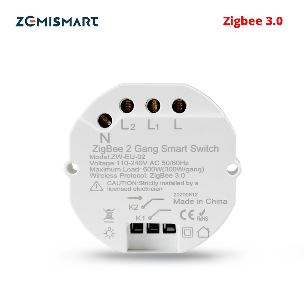 Zemismart Zigbee 3 0 Smart Light Switch DIY Breaker Module SmartThings Tuya Control Alexa Google Home 2 Way