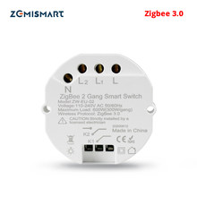 Zemismart Zigbee 3.0 Intelligente Interruttore Della Luce FAI DA TE Interruttore Modulo SmartThings Tuya Controllo Alexa Google Casa 2 Vie