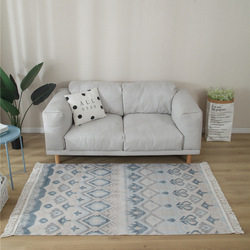 Grand tapis pour salon macramé coton lin chambre tapis Boho Enthnic prière tapis de sol noué à la main salle à manger rétro tapis