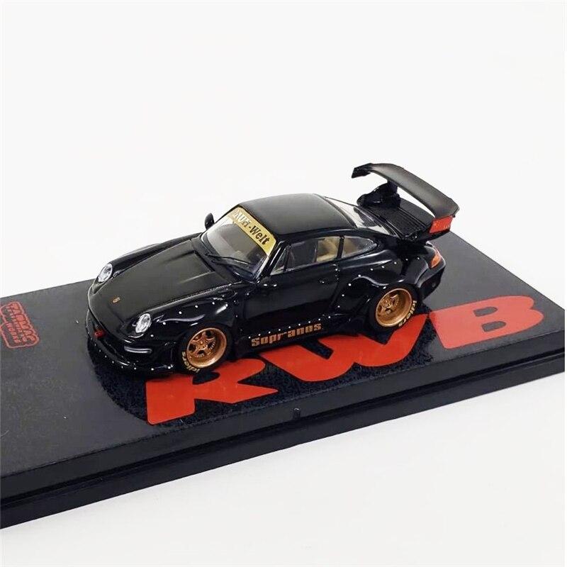 Tarmac Works 1:64 RAUH-Welt 993 RWB Soprnos Black Diecast Model Car