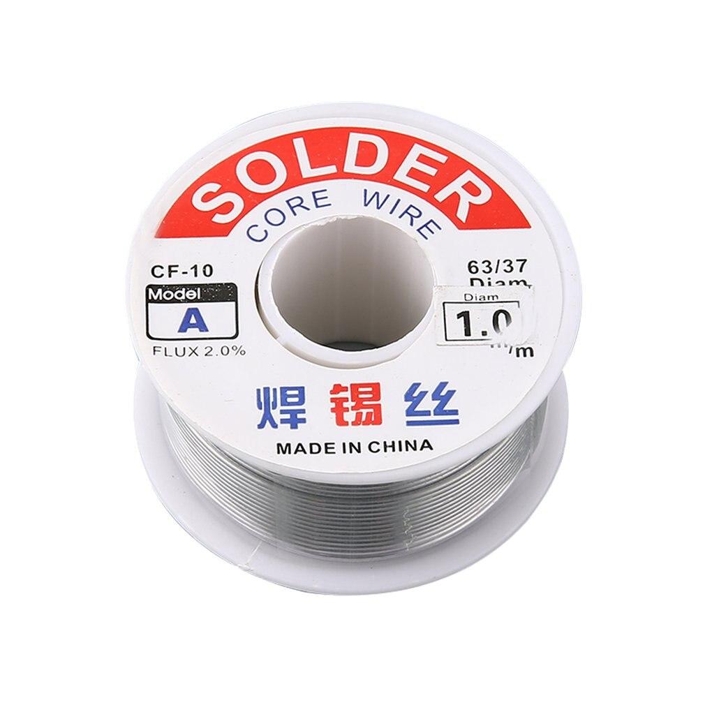 1.0/1.2mm 2% Flux Tin Lead Rosin Roll Core Silver Solder Wire Welding Soldering Repairing Tool Reel Melt Kit Electric Melting