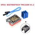 5 шт. BIGTREETECH TMC2209 V1.2 Драйвер шагового двигателя UART + 5 шт. защита 3D принтер запчасти tmc2208 Ramps 1 4 SKR MKS панель управления