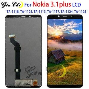 Image 1 - Для Nokia 3,1 plus ЖК дисплей экран дигитайзер сенсорная панель для Nokia 3,1 plus LCD TA 1118, TA 1125, TA 1113, TA 1117, TA 1124,
