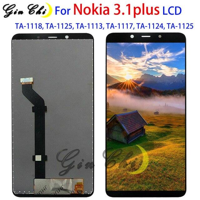 Для Nokia 3,1 plus ЖК дисплей экран дигитайзер сенсорная панель для Nokia 3,1 plus LCD TA 1118, TA 1125, TA 1113, TA 1117, TA 1124,