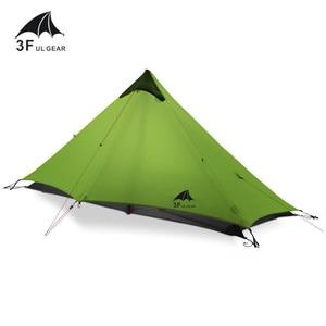 Image 1 - 3F UL 기어 Lanshan 1 텐트 Oudoor 1 인 초경량 캠핑 텐트 3 시즌 전문 15D Silnylon Rodless Tent