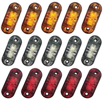10 sztuk światło ostrzegawcze LED przyczepa samochodowa ciężarówka czerwony pomarańczowy biały 12V 24V światła obrysowe LED lampa do akcesoriów samochodowych tanie i dobre opinie CN (pochodzenie) Światła postojowe 800LM Brak 12 V 24 V 250G Uniwersalny truck accessories led rear lights for trail trailer lights