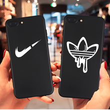 Fashion sports brand soft case for iphone 11 pro 2019 X XS MAX XR 8 7 6 6S plus phone cover matte silicone street logo coque