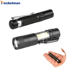 Portable Pen Light Flashlight Mini Torch with a Pen Clip Handy LED Flashlight Use AA/14500 Battery Waterproof Torch Super Bright(China)