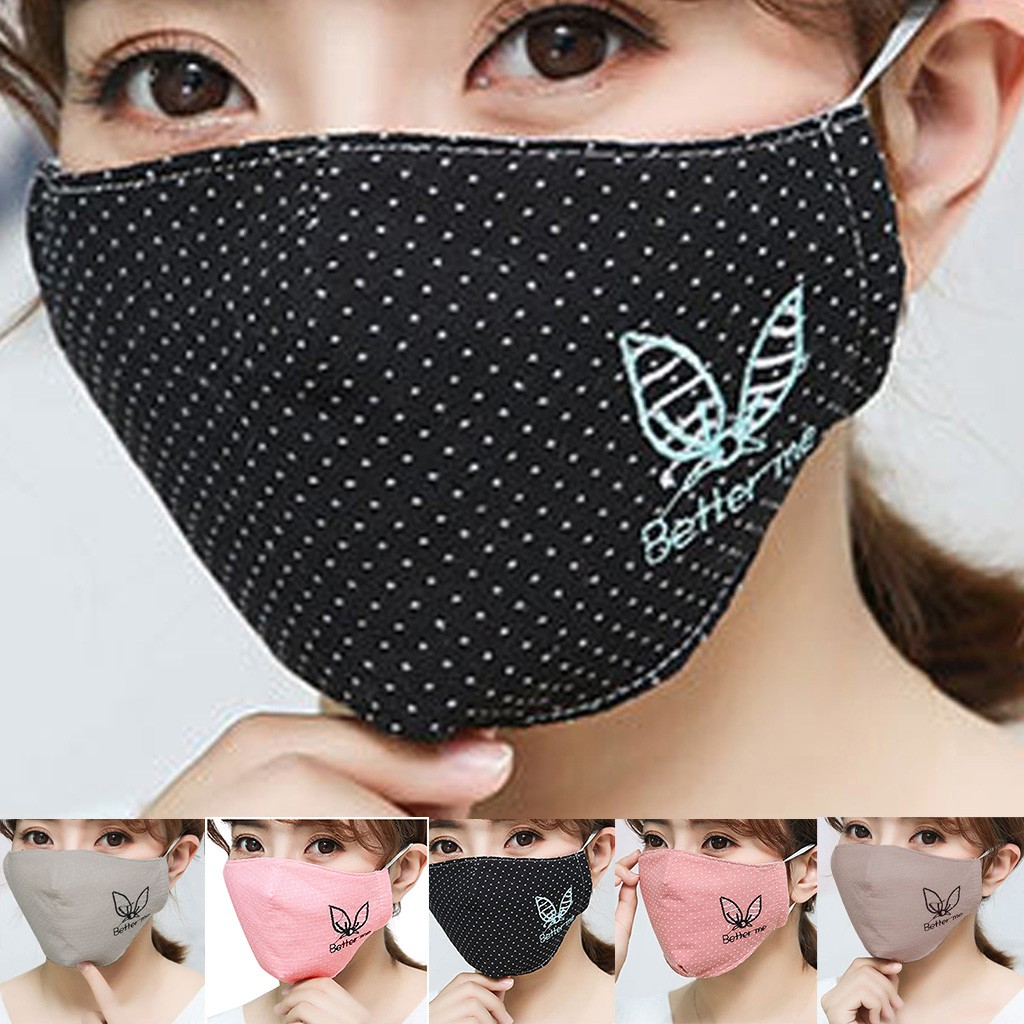 Habbf4b20f55e48c190a8c289fc10a90ep Kawaii Maska Women Cotton Print Facemask Outdoor Riding Quick-drying Dustproof Keep Warm Mask