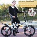 Складной велосипед  двойной дисковый тормоз с регулируемой скоростью 20 дюймов для взрослых и детей