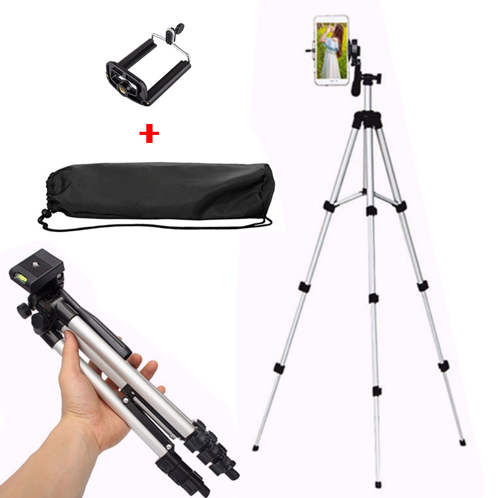 Extendable flexible Digital Camera Tripod Mobile Smart Phone Stand Mount Holder Clip Set For Nikon for Canon for iPhone 6 6s 7