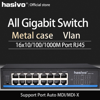 16 Port  RJ45 All Gigabit Ethernet switch  lan switch ethernet switch - DISCOUNT ITEM  0 OFF All Category