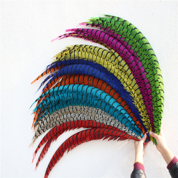 32-36inch/80-90CM Natural Lady Amherst Pheasant Feathers For Crafts Carnival Stage Performance Phesant Tail Feathers Plumes