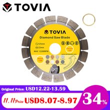 TOVIA Circular Diamond Saw Blades 125mm Cutting Porcelain Tile Ceramic Saw Disc For Granite Marble Concrete Stone Cutting Disc