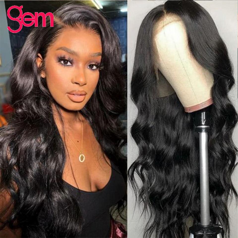 30 Polegada perucas da onda do corpo perucas do cabelo humano 150 densidade gem cabelo remy cabelo brasileiro glueless perucas 4x4 fechamento perucas