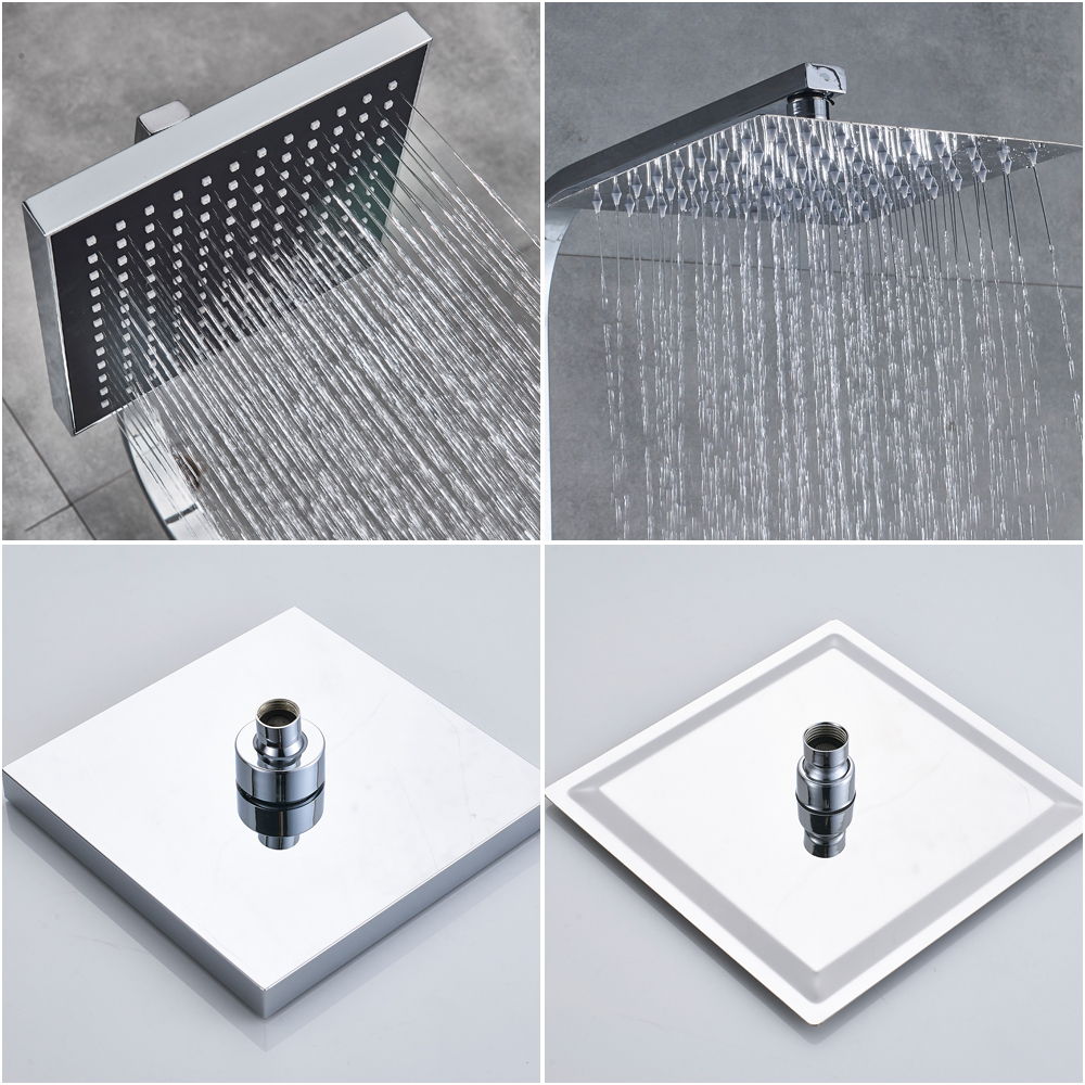 Habbfcd4207494c2580bd902f4c6822b65 POIQIHY Black Bathroom Shower Faucet Set Wall Mount Black 8''Rainfall Shower Head With Handheld Sprayer Bathtub Shower Mixer