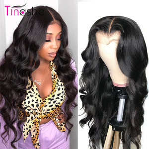 Tinashe Body Wave Wig Lace Front Human Hair Wigs 200 250 Density 4x4 Closure Wig Remy Brazilian Lace Frontal Wig 28 30 inch Wigs(China)