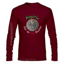 Mode Couleur Unie Hommes T-shirt Tee-shirt ALGERIE ALGÉRIE ALGERIEN Fier De Mes Racines L'argent-Tshirt T-shirt Décontracté