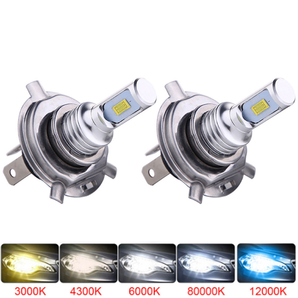 Muxall H4 H7 Led Car Headlight Bulbs 12000Lm 6500K CSP Chips Auto Ice Lamp For Cars H1 H3 H11 H13 H27 9005 HB3 HB4 Fog Lights