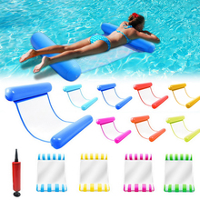 Water Hammock Inflatable Hammock Swimming Pool Outdoor Floatable  Air Mattress Beach Lounge Chair with Inflator Pump
