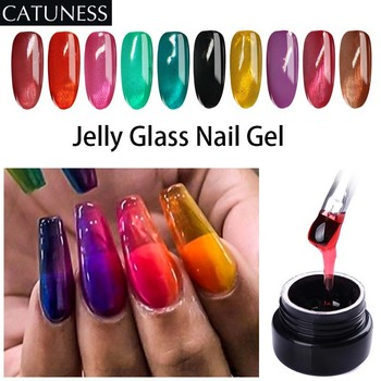 цены Glass Jelly Glass  LED Nail Gel Summer Candy Gel Nail Polish Translucent Soak Off UV Varnish Neon Color Transparent Jelly