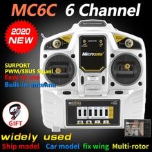 مايكروزون MC6C 2.4G 6CH جهاز إرسال و جهاز استقبال و نظام راديو لطائرة SU27 RC طائرة بدون طيار طائرة هليكوبتر متعددة الدوار قارب سيارة
