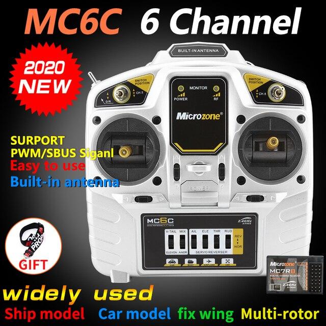 MicroZone MC6C 2.4G 6CH Controllerเครื่องส่งสัญญาณวิทยุระบบสำหรับSU27 เครื่องบินRC Drone multirotorเฮลิคอปเตอร์รถเรือ