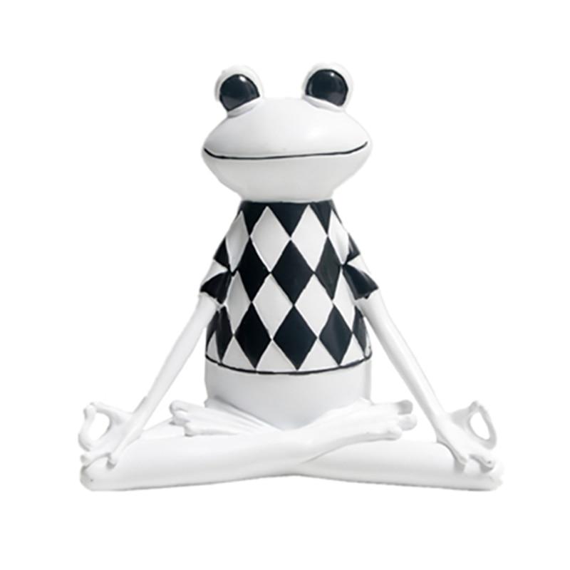 Украшение для домашнего декора 3 вида стилей полимерные полосы Лягушка йога статуэтки Животное Статуя Лягушка модель офисная машина украшение для гостиной|Статуэтки и миниатюры|   | АлиЭкспресс