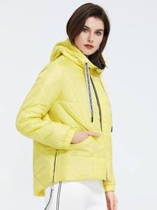 Astrid 2020 Весенняя женская парка Брендовое пальто теплая куртка яркая Женская куртка тонкий хлопок повседневная короткая большой размер ZM-3555