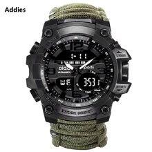 Военные часы addies мужские с компасом свистком скребок водонепроницаемые