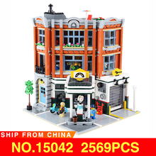 Movie Series Creator City Street View Corner Garage Set 15042 Building Blocks Bricks Kits Toys for Compatible With legoed 10264