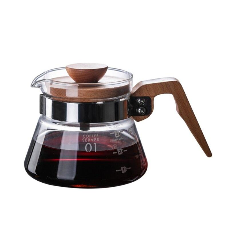 Эко Кофе новый термостойкий V60 залить над стеклом диапазон кофе сервер капельного кофе горшок Кофе чайник пивоварня бариста Перколятор чай...