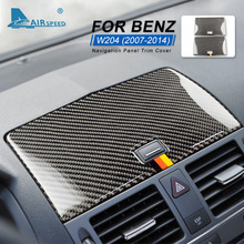 Sticker Class-W204-Accessories Interior-Trim Carbon-Fiber Mercedes-Benz Navigation-Panel-Cover