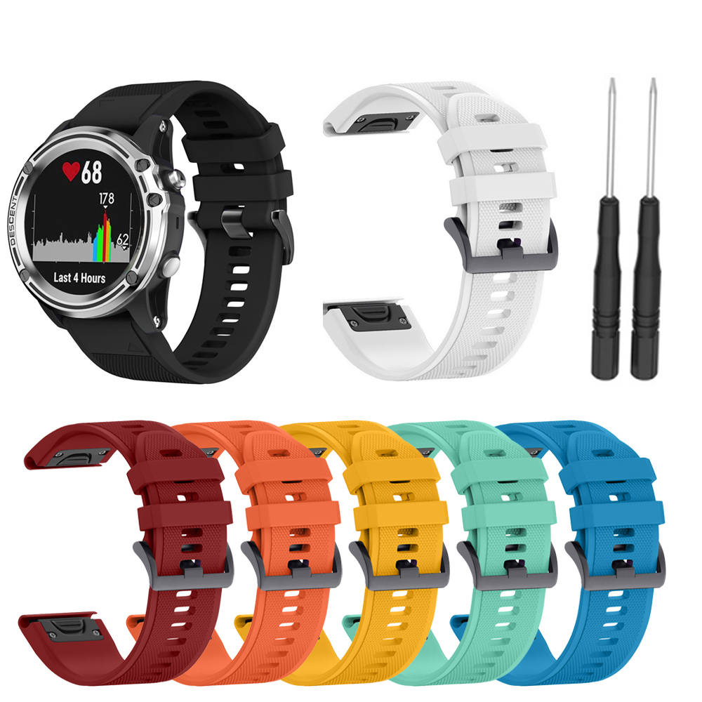 For Garmin Fenix 3/3HR/5X/5X Plus Silicone Fitness Replacement Wrist Band Strap Fits 5.70