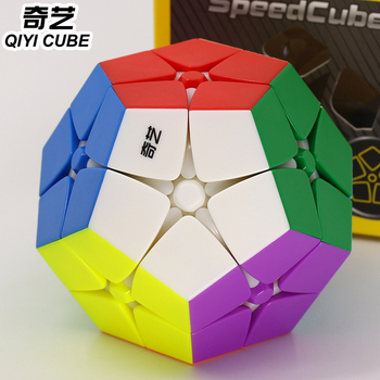 Magic puzzle QiYi cube XMD megaminxeds cubes megamin 2x2 dodecahedron stickerless colorful puzzles professional speed cube toy image