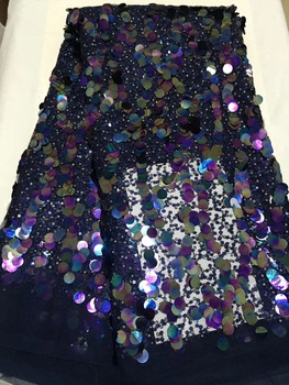 High quality purple African lace fabric sequins french tulle lace fabric 2020 latest arrival hot sale 5 yards for dress CD1817 фото
