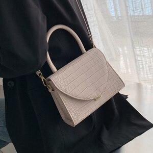 Image 3 - 石のパターンpuレザー女性のためのクロスボディバッグ2021高級品質ショルダーシンプルなバッグ女性デザイナーハンドバッグトートバッグ