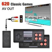 4K Video Spiel Konsole Mini Retro Wireless Handheld TV Video Spiele Controller Gebaut In 620 Klassische Spiele Unterstützung AV ausgang