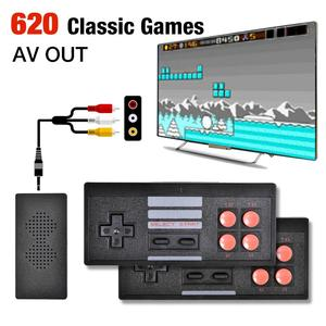 4K Video Game Console Mini Retro Wireless Handheld TV Video Games Controller Built In 620 Classic Games Support AV Output